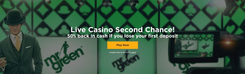 Mr Green Live Casino Welcome Bonus
