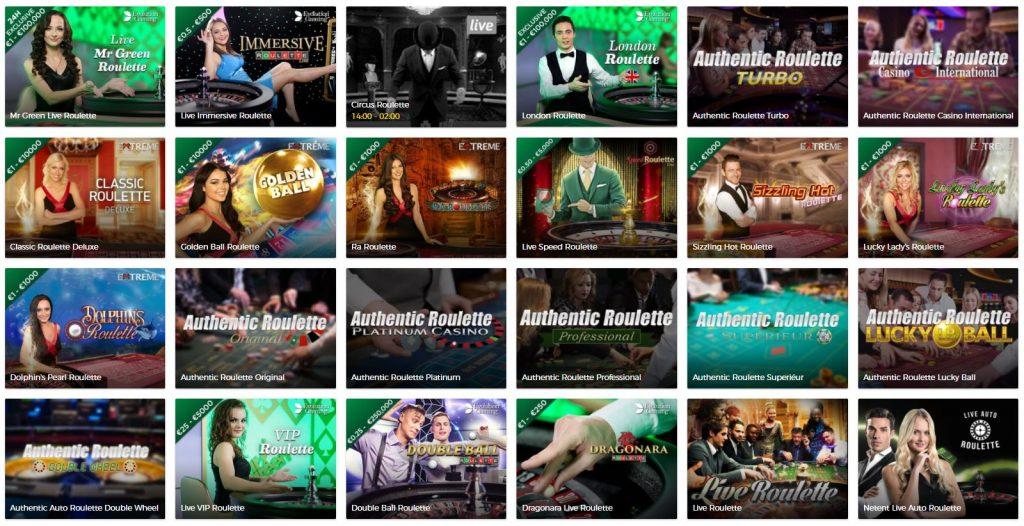 Mr Green Live Roulette2