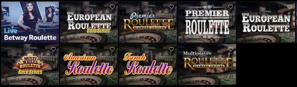 Premier roulette games