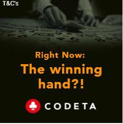Codeta Welcome Bonus Cashback Sqaure Banner