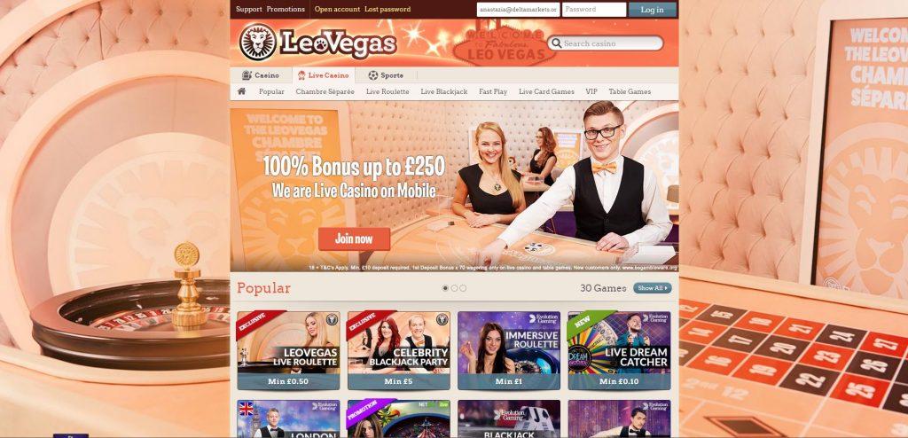 LeoVegas Background Roulette
