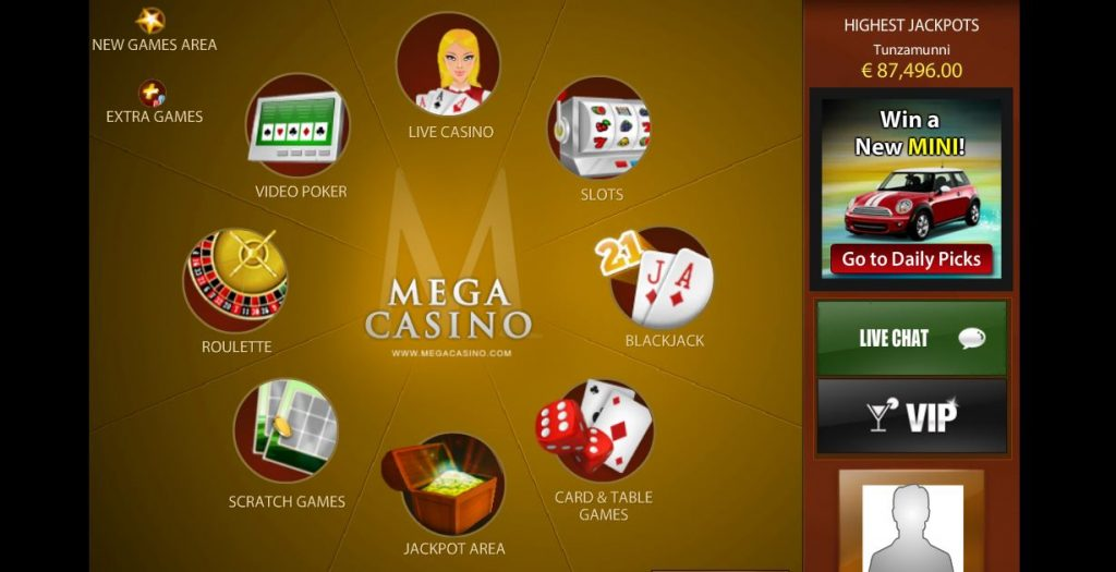Mega Casino Appearance