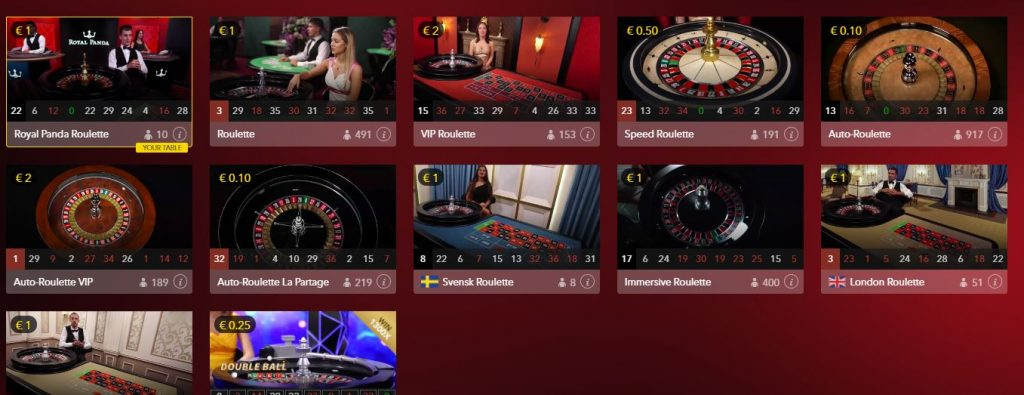 Royal Panda Live Roulette Offer