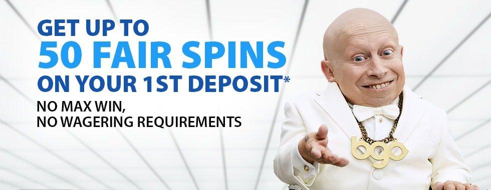 BGO Welcome Bonus Fair Spins