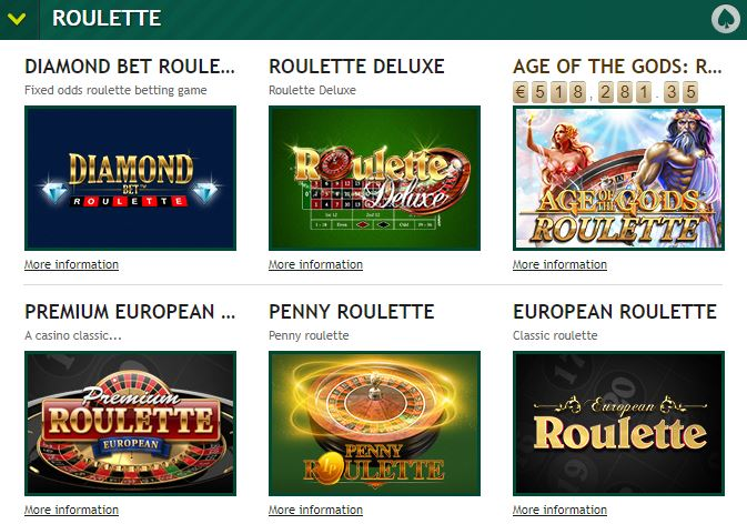 Paddy Power Roulette Table Games