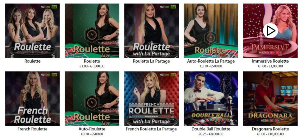RedBet Live Roulette NetEnt and Evo