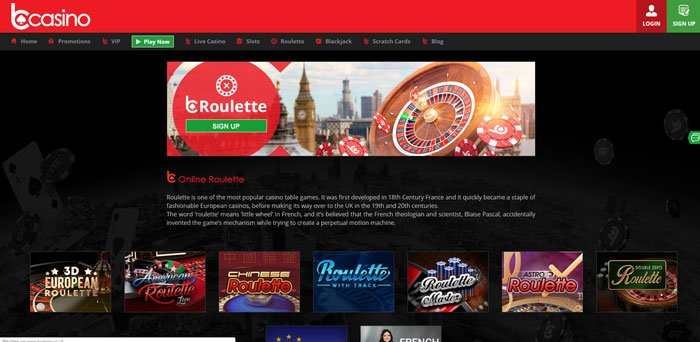 bcasino roulette offers